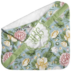 Vintage Floral Baby Hooded Towel (Personalized)