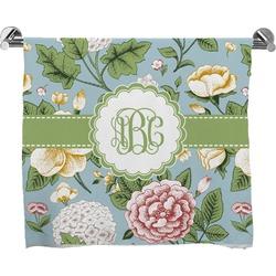 Vintage Floral Full Print Bath Towel (Personalized)