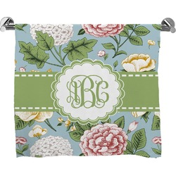 Vintage Floral Full Print Bath Towel (Personalized)