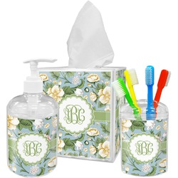 Vintage Floral Bathroom Accessories Set (Personalized)
