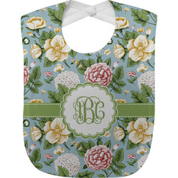 Vintage Floral Baby Bib (Personalized)