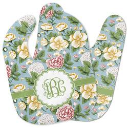 Vintage Floral Baby Bib w/ Monogram