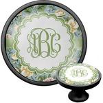 Vintage Floral Cabinet Knob (Black) (Personalized)
