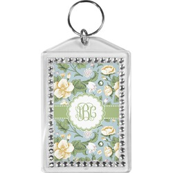 Vintage Floral Bling Keychain (Personalized)