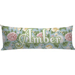 Vintage Floral Body Pillow Case (Personalized)