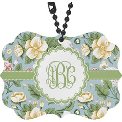 Vintage Floral Rear View Mirror Charm (Personalized)