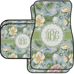Vintage Floral Car Floor Mats (Personalized)