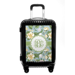 Vintage Floral Carry On Hard Shell Suitcase (Personalized)