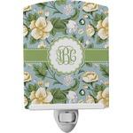 Vintage Floral Ceramic Night Light (Personalized)