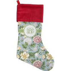 Vintage Floral Christmas Stocking (Personalized)