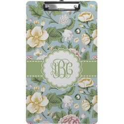 Vintage Floral Clipboard (Legal Size) (Personalized)