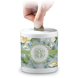 Vintage Floral Coin Bank (Personalized)