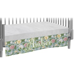 Vintage Floral Crib Skirt (Personalized)