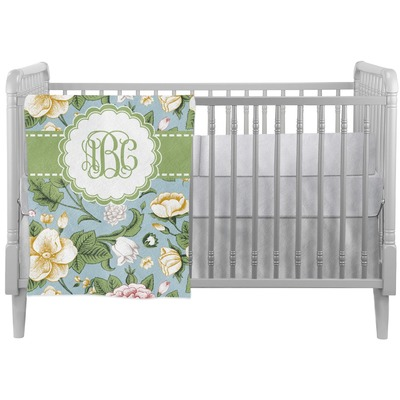 Vintage Floral Crib Comforter / Quilt (Personalized)