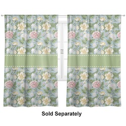 "Vintage Floral Curtains - 20""x54"" Panels - Lined (2 Panels Per Set) (Personalized)"