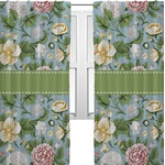 Vintage Floral Curtains (2 Panels Per Set) (Personalized)
