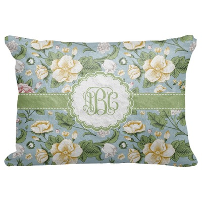 """Vintage Floral Decorative Baby Pillowcase - 16""""x12"""" (Personalized)"""