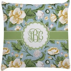 Vintage Floral Decorative Pillow Case (Personalized)