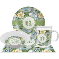 Vintage Floral Dinner Set - 4 Pc (Personalized)