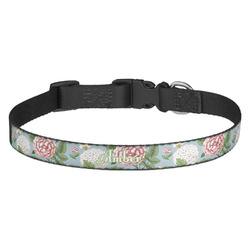 Vintage Floral Dog Collar (Personalized)