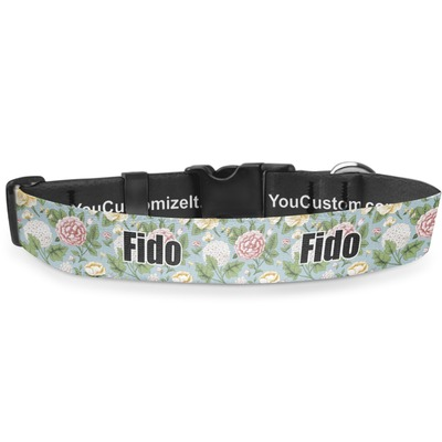 Vintage Floral Deluxe Dog Collar (Personalized)