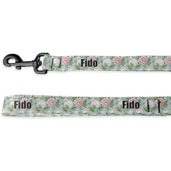 Vintage Floral Deluxe Dog Leash - 4 ft (Personalized)