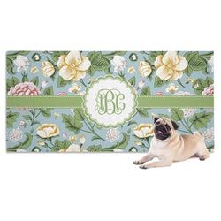 Vintage Floral Dog Towel (Personalized)