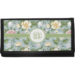 Vintage Floral Canvas Checkbook Cover (Personalized)