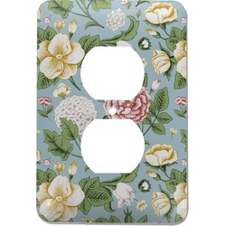 Vintage Floral Electric Outlet Plate (Personalized)