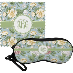 Vintage Floral Eyeglass Case & Cloth (Personalized)