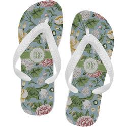 Vintage Floral Flip Flops (Personalized)
