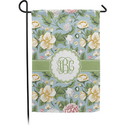 Vintage Floral Garden Flag - Single or Double Sided (Personalized)