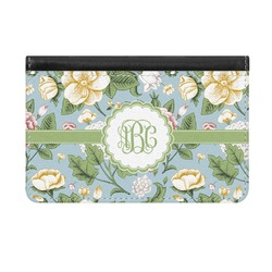 Vintage Floral Genuine Leather ID & Card Wallet - Slim Style (Personalized)