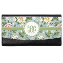 Vintage Floral Genuine Leather Ladies Wallet (Personalized)
