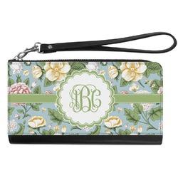 Vintage Floral Genuine Leather Smartphone Wrist Wallet (Personalized)