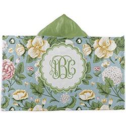 Vintage Floral Kids Hooded Towel (Personalized)