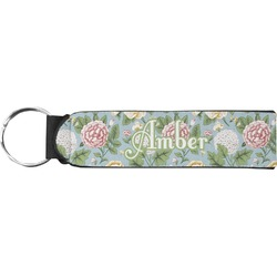 Vintage Floral Neoprene Keychain Fob (Personalized)