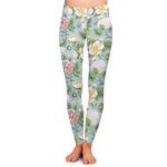 Vintage Floral Ladies Leggings (Personalized)