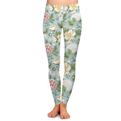 Vintage Floral Ladies Leggings - Large (Personalized)