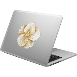 Vintage Floral Laptop Decal (Personalized)