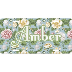 Vintage Floral Front License Plate (Personalized)