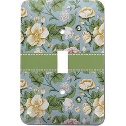 Vintage Floral Light Switch Cover (Single Toggle) (Personalized)