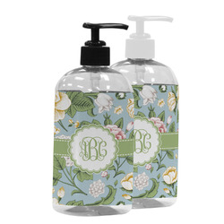Vintage Floral Plastic Soap / Lotion Dispenser (Personalized)