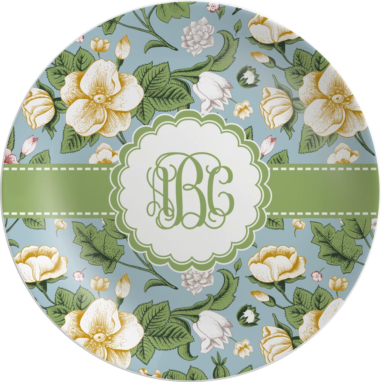 Vintage Floral Melamine Plate (Personalized)  sc 1 st  YouCustomizeIt & Vintage Floral Melamine Plate (Personalized) - YouCustomizeIt