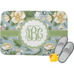 Vintage Floral Memory Foam Bath Mat (Personalized)