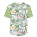 Vintage Floral Men's Crew T-Shirt (Personalized)