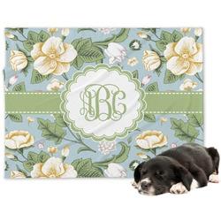 Vintage Floral Minky Dog Blanket - Large  (Personalized)