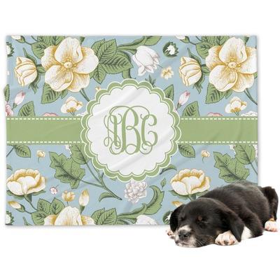 Vintage Floral Dog Blanket (Personalized)