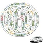 Vintage Floral Monogram Car Decal (Personalized)