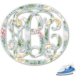 Vintage Floral Monogram Iron On Transfer (Personalized)